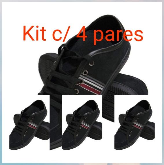 Kit C/ 4 Pares De Sapatênis Masculino (4° Par De Brinde)