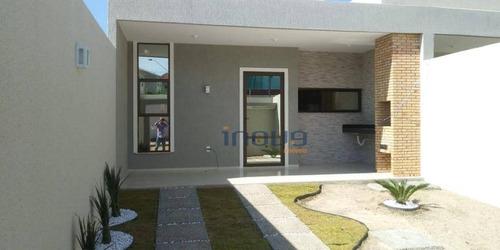 Casa Com 3 Dormitórios À Venda, 96 M² Por R$ 295.000,00 - Eusébio - Eusébio/ce - Ca0428