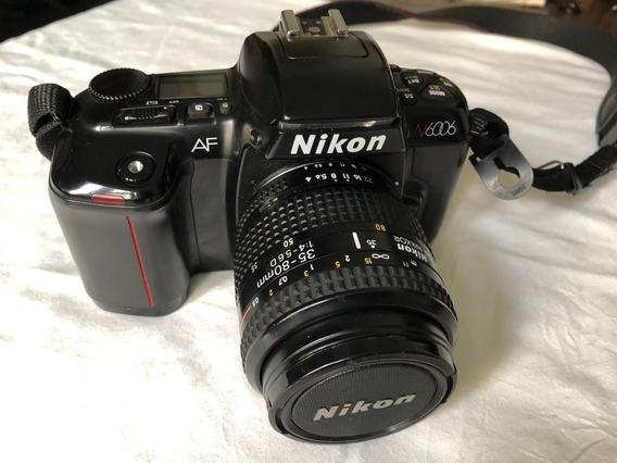 Câmera Nikon N6006 35mm Af Nikkor Lentes 35-80mm 1:4-5.6d