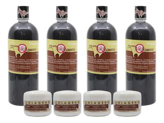 4 Shampoo Yeguada La Reserva Y 4 Colagenos Chicos Gratis