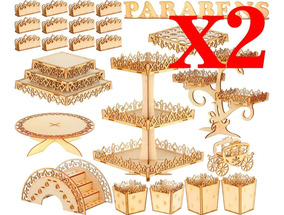 2 Kits Festa Provençal Mdf Arabesco 74 Itens + Frete Grátis