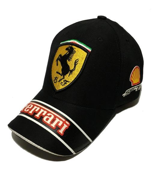 Boné Ferrari Classic Shell Preto