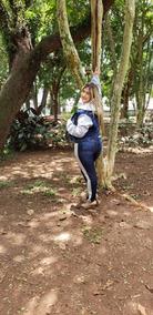 Jaqueta Jeans Com Moletom Feminina Plus Size Tamnhos Grande