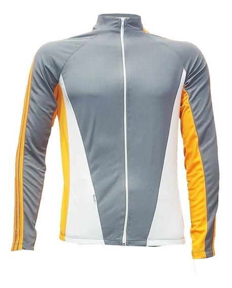 Camiseta Manga Longa Com Zíper Total Para Ciclismo 3 Cores