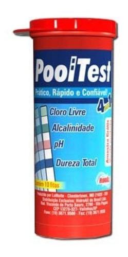 Imagem 1 de 2 de Fita Teste Pooltest 4 Em 1 - Hidroall - 50 Fitas