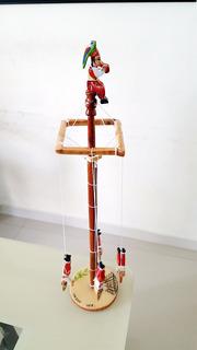Artesania Tajin Voladores De Papantla Madera 38cm