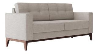 Sofa Hugo Pe Base Madeira Luxo Moderno Lançamento 2 Lugar