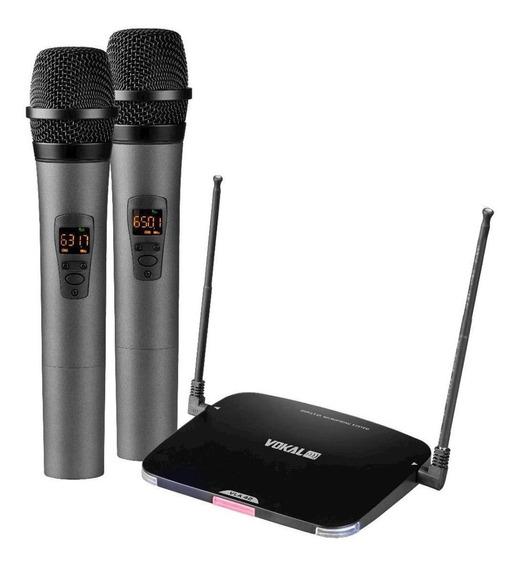 Kit de microfones Vokal VLA-42 dinâmico preto