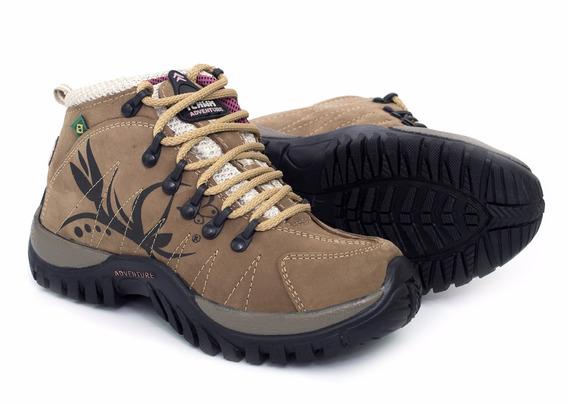Coturno Adventure Feminino Trekking Tchwm Shoes Frete Gratis