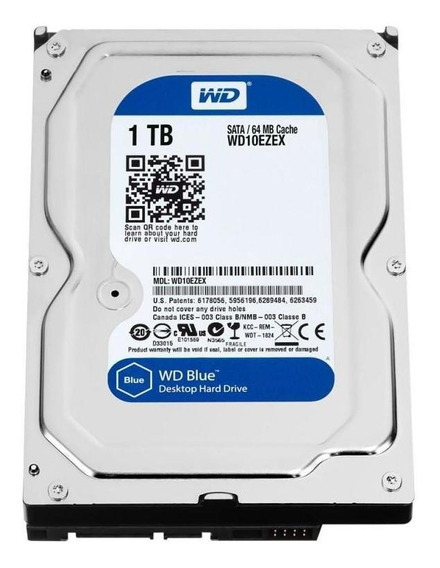 Hd 1tb Sataiii Western Digital Blue 7200rpm Wd10ezex