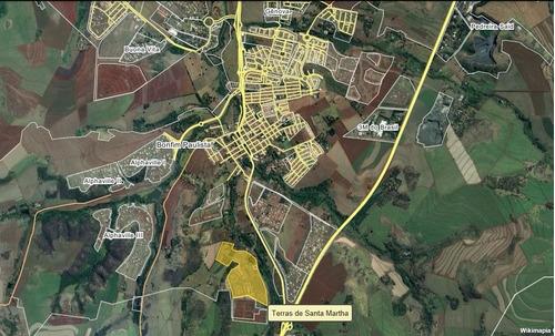 Terreno Para Venda Em Bonfim Paulista No Terras De Santa Martha, Terreno Com 2.240 M2, Uso Condominial Residencial, Até 2 Pavimentos. - Te00451 - 68119964