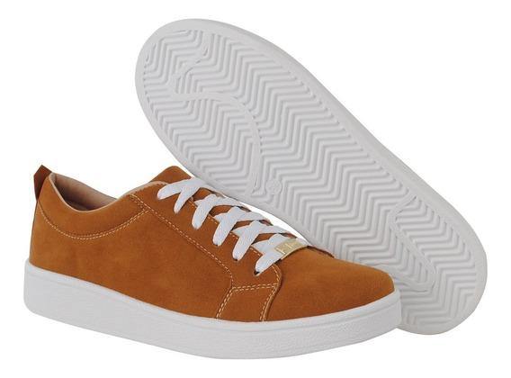 Tenis Sapato Casual Feminino Camurça Cr Shoes 4030