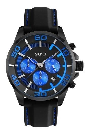 Relógio Masculino Skmei 9154 Azul Original Com Caixa