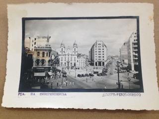 Cartão Postal Antigo Recife Praça Da Independência Anos 50