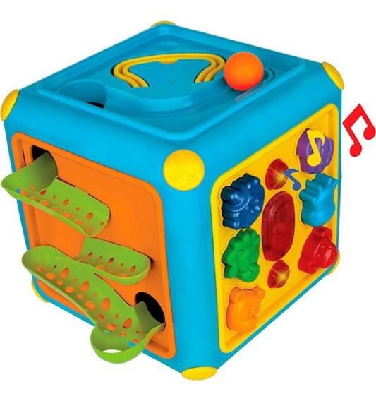 Cubo Gigante Pedagógico Magic Toys Com Acessórios - Colorido
