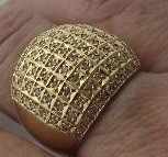 Maravilhoso Pavê Diamantes Dourado Ouro 18k750 -13,55 Gramas