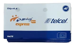 100 Piezas Chip Sim Telcel Express Lada 951