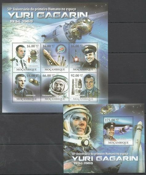 2011 Espacio- Aniv Yuri Gagarin - Mozambique (2 Bloques)