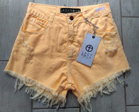 Short Jeans Neon Lady Rock Cintura Alta Frete Grátis
