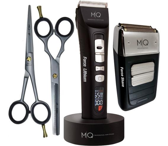 Máquina De Corte Force Lithium + Shave Mq + Kit De Tesouras