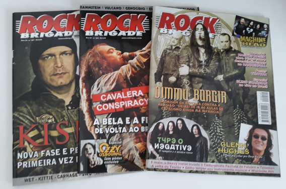 Kit 3 Revistas Rock Brigade - N°s 249, 267 E 268.