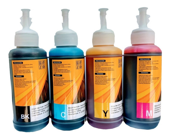 Pack 4 Pzas Tinta Universal Generica Epson Hp Brother Canon
