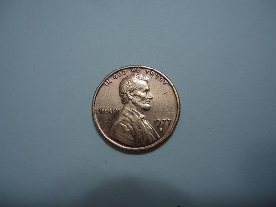 Moeda Bronze 1 Um One Cent Centavo Dolar 1977 D Usa America