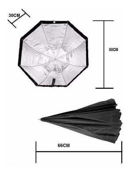 Octabox Tipo Sombrinha 80cm Para Tocha/flash/luz Contínua