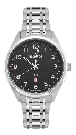 Relógio Technos Masculino Ref: 2115msa/1p Classic Prata