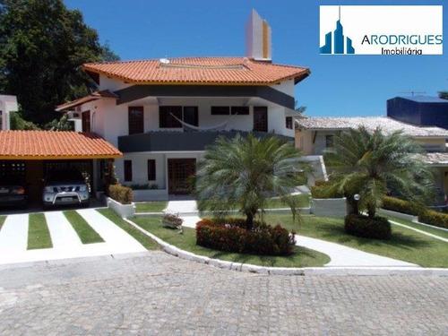 Casa À Venda Em Lauro De Freitas Com 490mt De Area Construida E M Um Terreno Com 1000mts - Ca00132