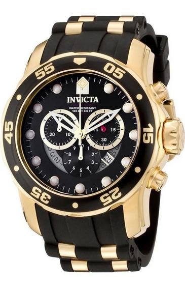 Relógio Invicta 6981 Pro Diver Banhado A Ouro 18 K Original