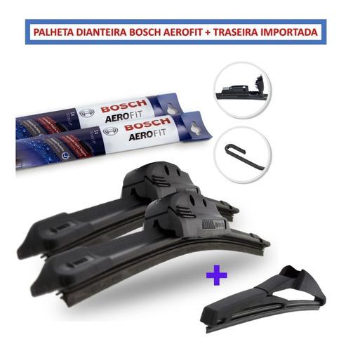 Imagem 1 de 4 de Palheta Limpador Parabrisa Original Bosch Aerofit + Traseira