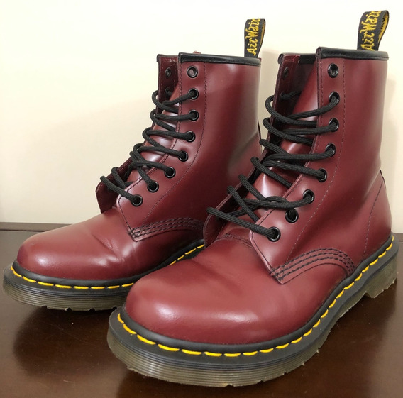 Borcegos Dr. Martens - 1460 Smooth - Cherry Red