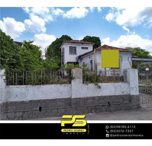 Casa À Venda, 1.400 M² Por R$ 980.000 - Tambiá - João Pessoa/pb - Ca0943