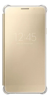 Capa Clear View Coveroriginal Samsung Galaxya7 2016 Dourada