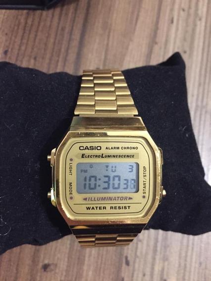 Relógio Feminino Casio Vintage Digital A168wg-9wdf Dourado