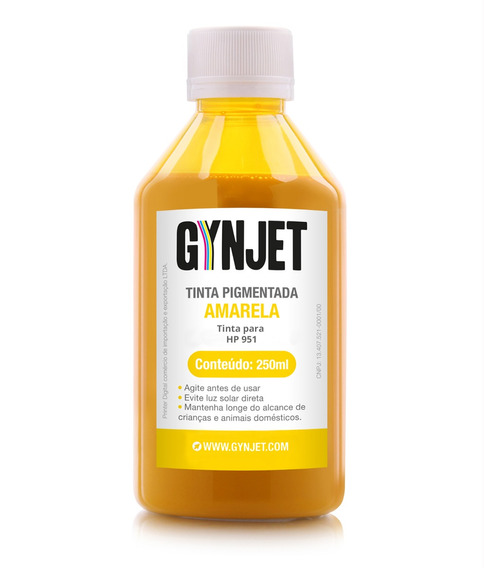 Tinta Para Cartucho Hp 951 Yellow 250 Ml Gynjet