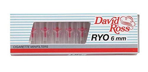 Minifiltros Xra Cigarrillos 6mmx10 David Ross. -60% Nicotina