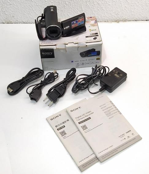 Filmadora Sony Handycam Hdr-cx220 C/ Todos Acessórios