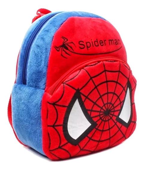 Mochila Infantil Spiderman Pelucia Homem Aranha Bolsa Escola