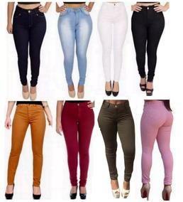 Calça Jeans Feminina Cintura Alta Hot Pant Skinny + Calcinha