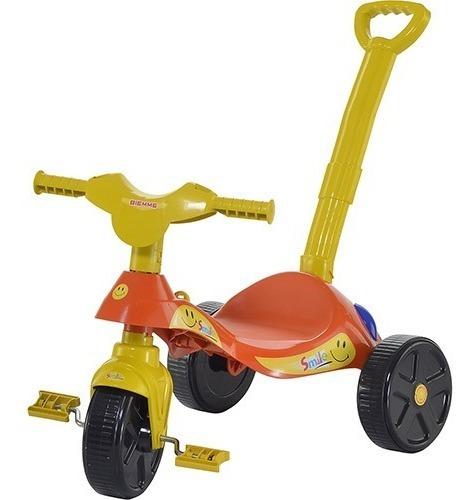 Triciclo Infantil Moto Teco Barra Empurrar Biemme Promoção!