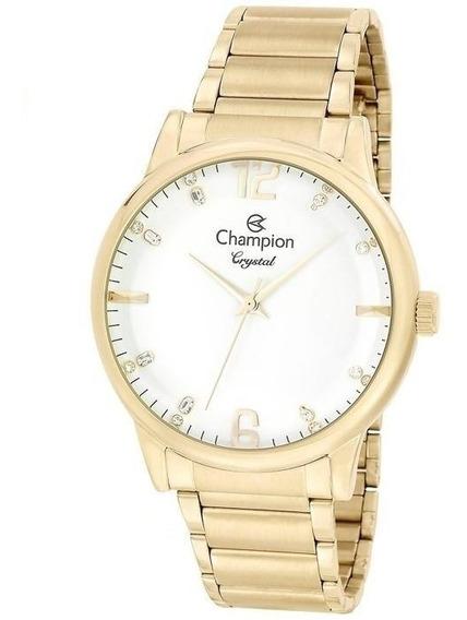 Relógio Champion Feminino Analógico Dourado Cn25529h
