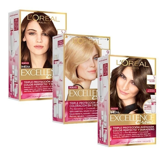 Coloración En Crema Tintura 3 Kit Excellence Creme Loreal
