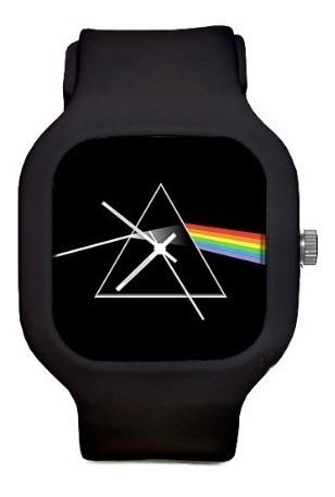 Relogio Pink Floyd Pulseira Silicone Troca A Prova Dagua