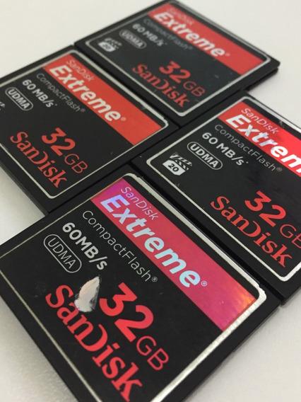 Cartão Compactflash 32gb - Sandisk Extreme - 60mb/s