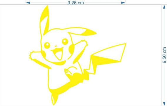 Adesivo Pikachu 10cmx15cm Desenho Pokemon Geek Nerd 2