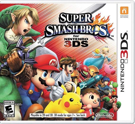 Super Smash Bros 3ds Mídia Física Novo Original Lacrado