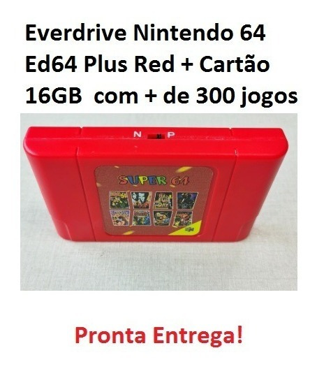 Cartucho Flashcard Ed64 Plus Nintendo 64 Everdrive Red + Sd