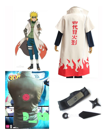 Arg Naruto Cosplay Kit Minato 4to Hokage Halloween Chaleco++